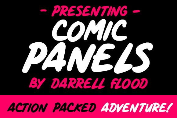 Comic Panels font by Darrell Flood