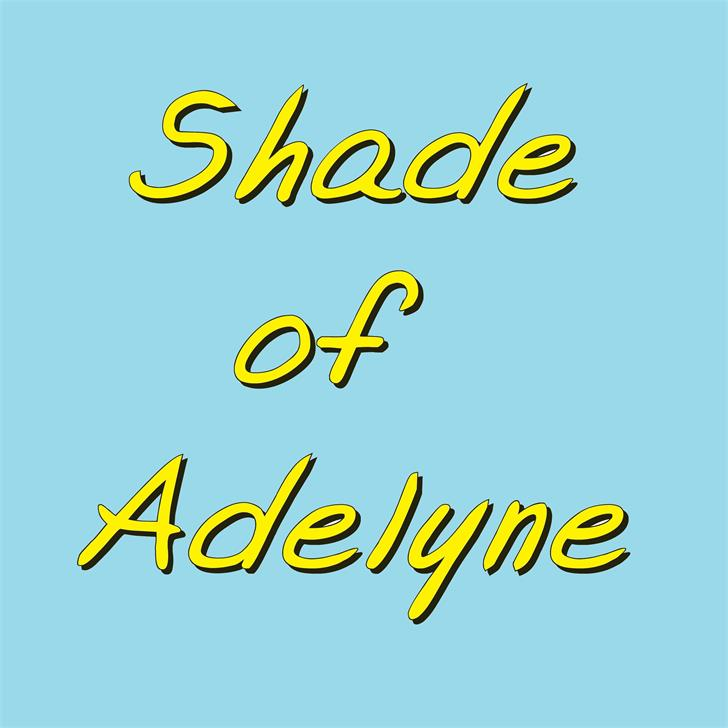 Shade of Adelyne font by philing