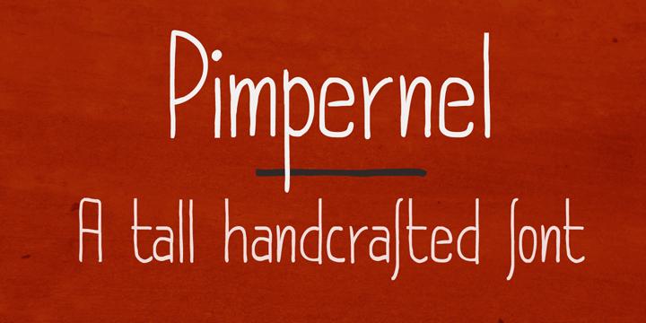 DK Pimpernel font by David Kerkhoff