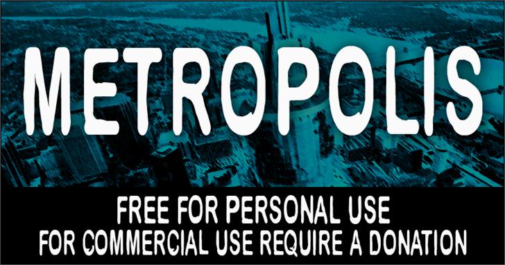 CF Metropolis font by CloutierFontes