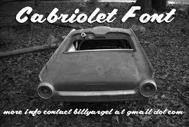 CABRIOLET font by Billy Argel