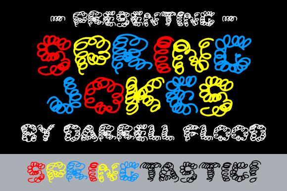 Spring Jokes font by Darrell Flood