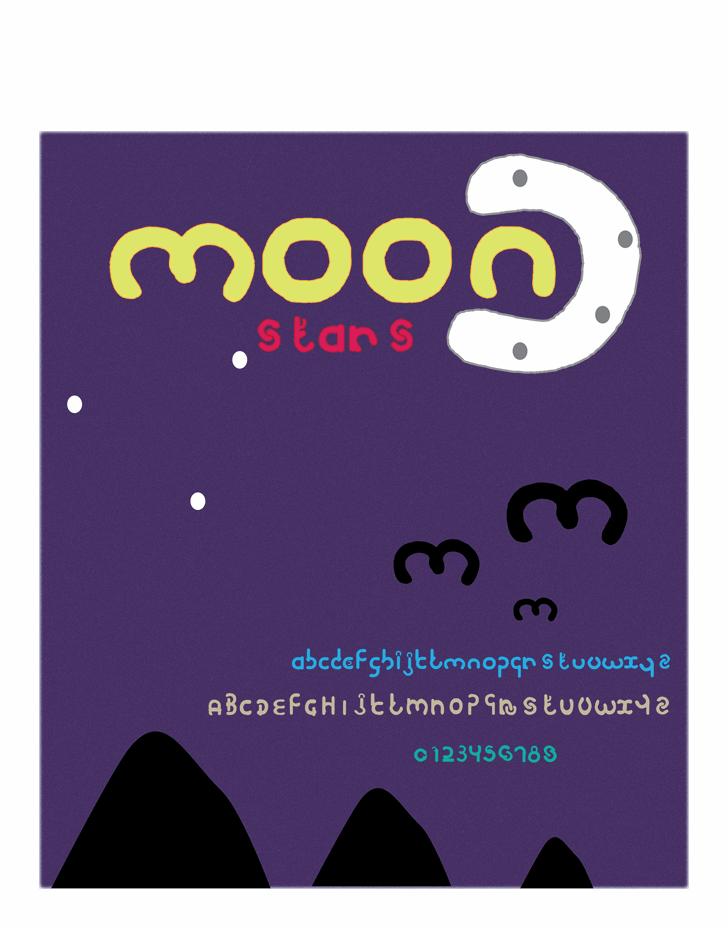 moon font by Cé - al