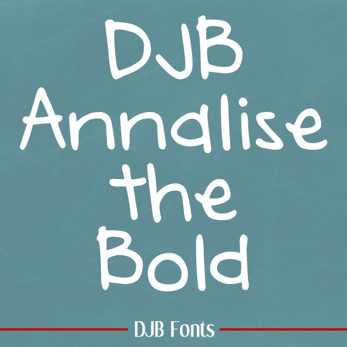 DJB Annalise font by Darcy Baldwin Fonts