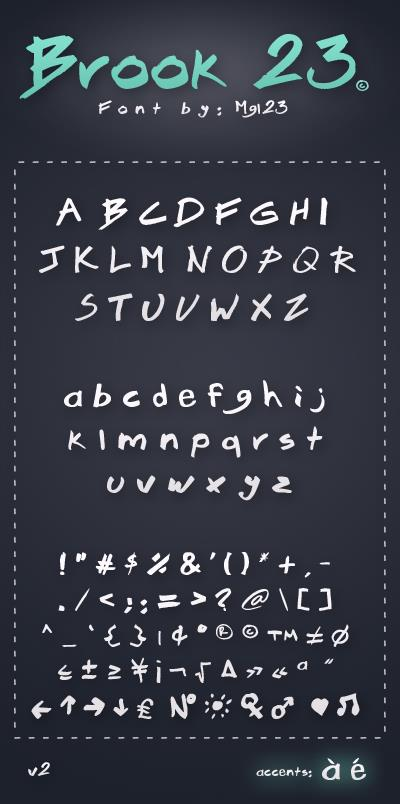 Brook 23 font by mgl23