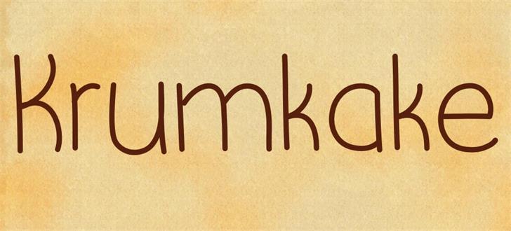 Krumkake font by UpandIt