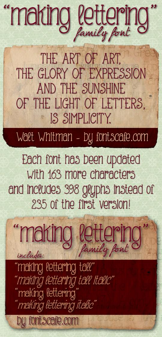 Making Lettering_DEMO font by FontsCafe