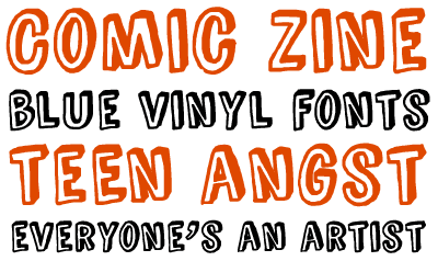 Comic Zine font by Blue Vinyl