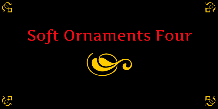 Soft Ornaments Four font by Intellecta Design