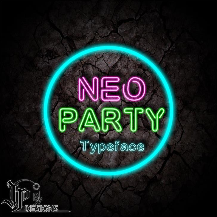 NÉO PARTY font by LJ Design Studios