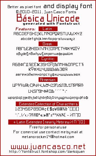 BasicX font by Juan Casco