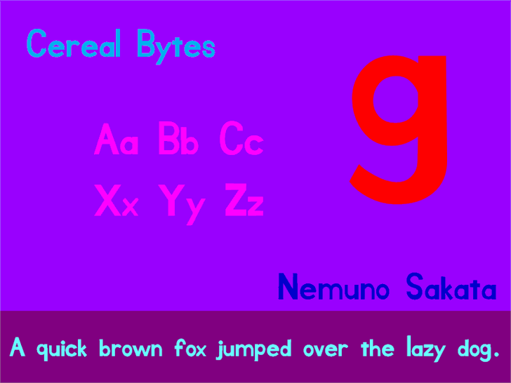 Cereal Bytes font by heaven castro