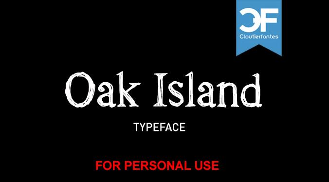 CF Oak Island PERSONEL font by CloutierFontes