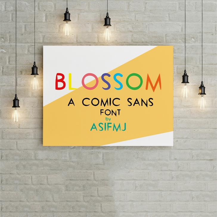 Blossom font by Asifmj