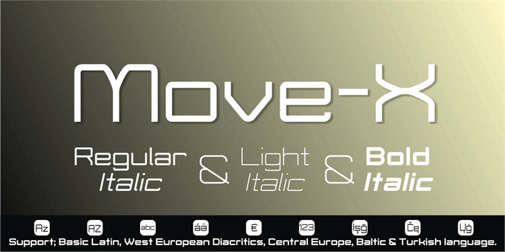 Move-X font by studiotypo