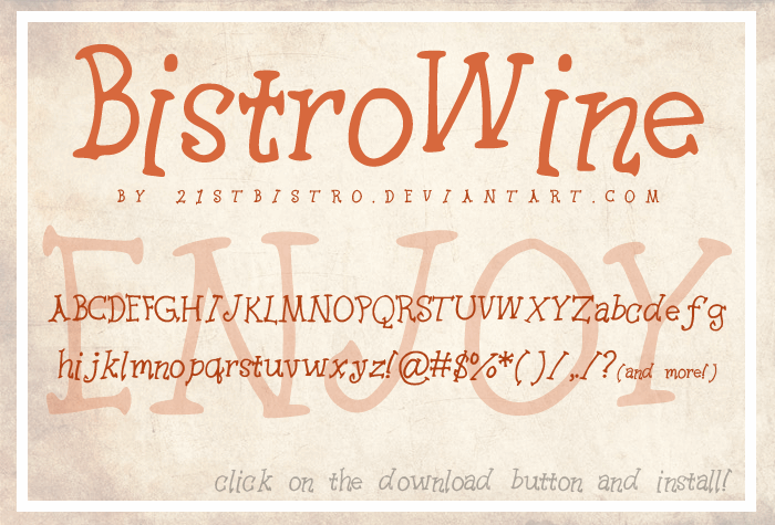 BistroWine font by 21stbistro