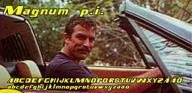 Magnum p.i. font by Fontomen