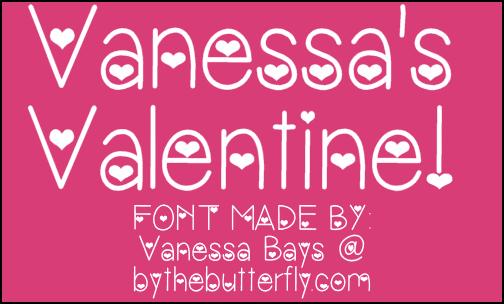 VanessasValentine font by ByTheButterfly