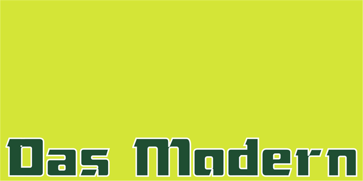 Das Modern font by Intellecta Design