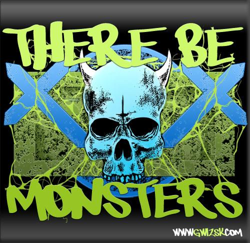 There be monsters font by Chris Vile