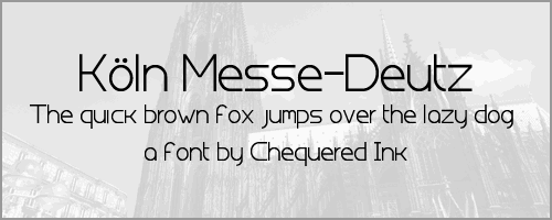 Koln Messe-Deutz font by Chequered Ink