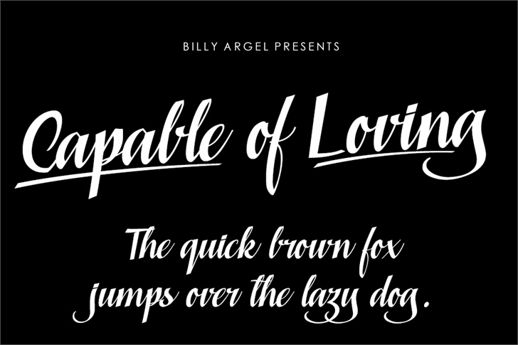 Capable of Loving Personal Use font by Billy Argel