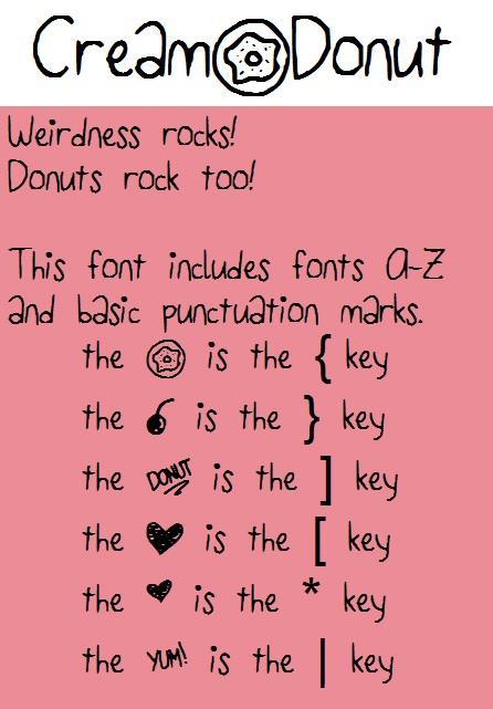 CreamDonut font by fluffybanana101