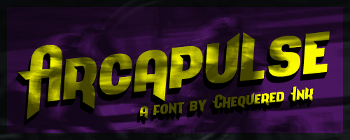 Arcapulse font by Chequered Ink
