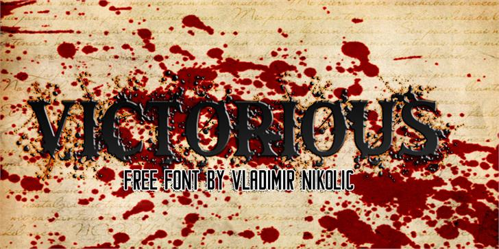 Victorious font by Vladimir Nikolic