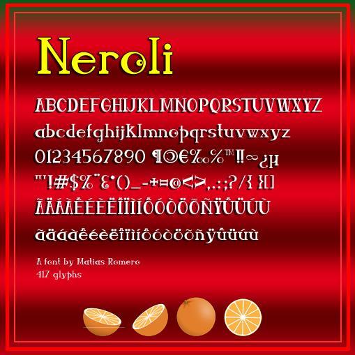 Neroli font by Matias Romero