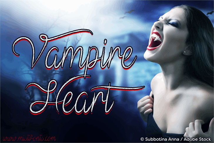 Mf Vampire Heart font by Misti's Fonts