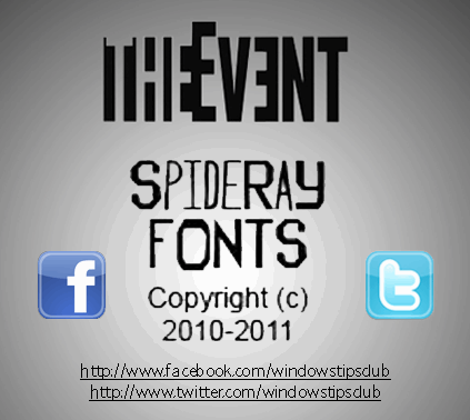 The Event font by SpideRaYsfoNtS