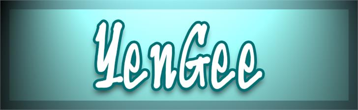 YenGee font by VVB DESIGNS