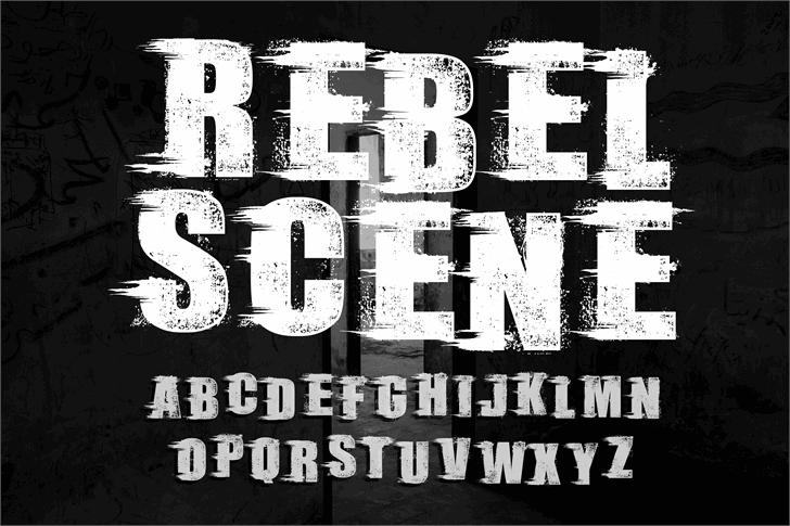 Rebel Scene_Demo font by knackpackstudio