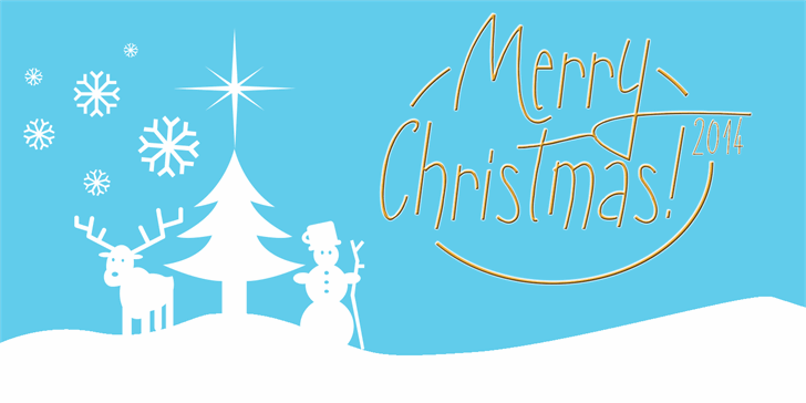 Sunny Merry Christmas font by Roland Huse Design