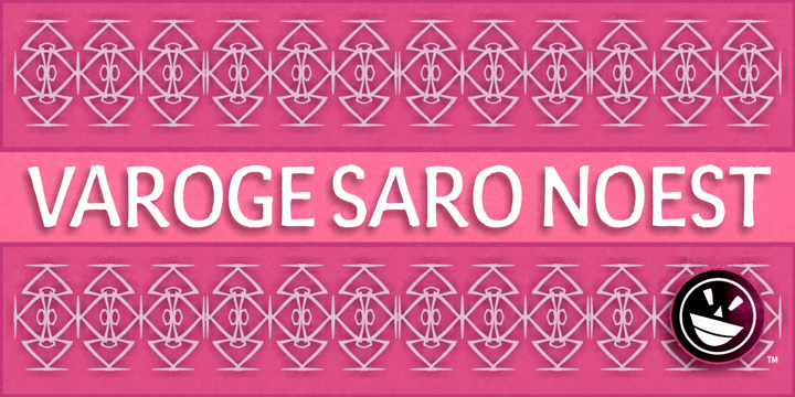 Varoge Saro Noest font by the Fontry