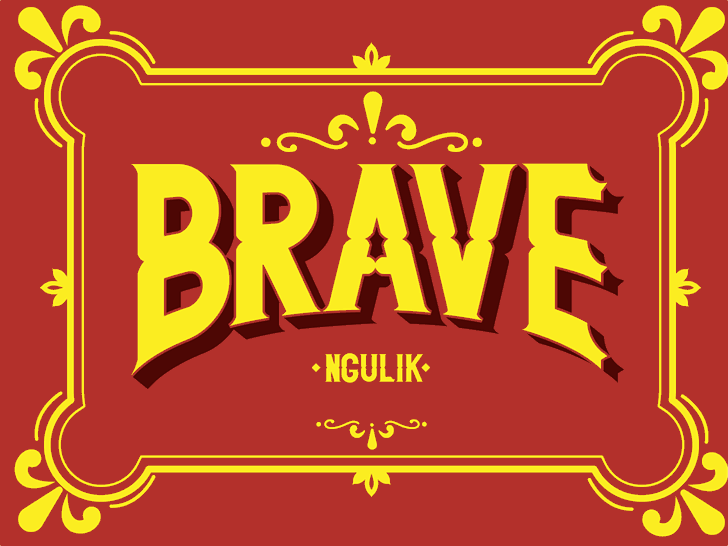 BRAVE font by ngulik