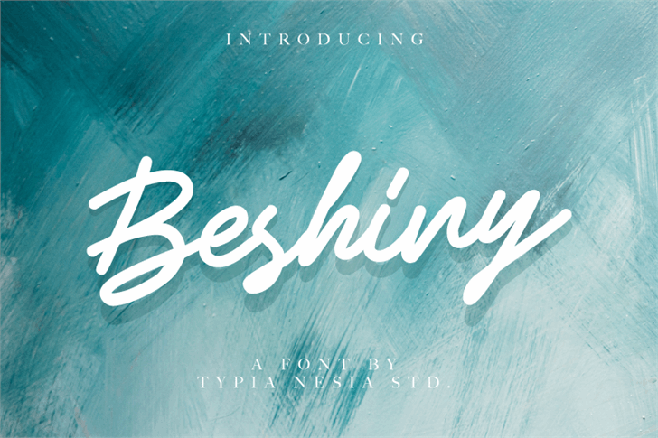 Beshiny font by Typia Nesia
