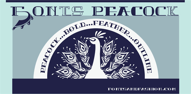 PEACOCK DEMO normal font by Fontsandfashion