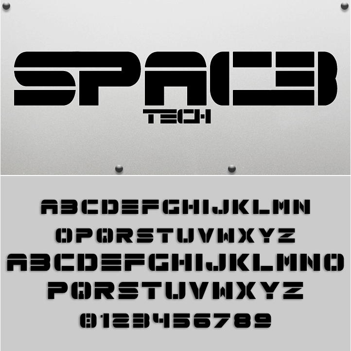 Spac3 tech font by Qbotype Fonts