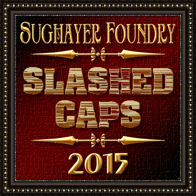 Slashed CAPS font by Sughayer Foundry