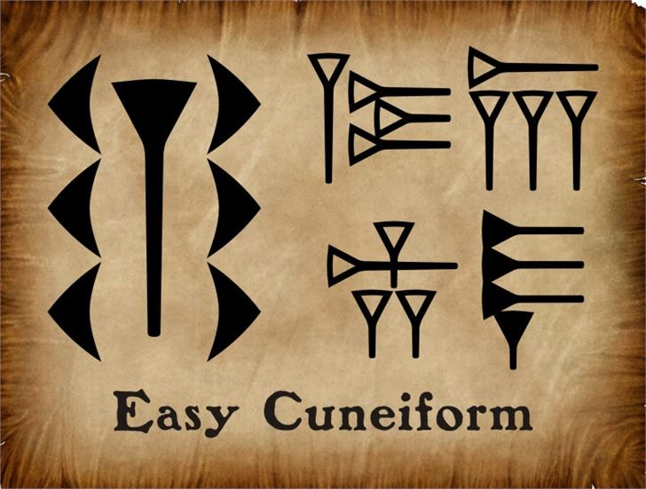 EasyCuneiform font by Intellecta Design