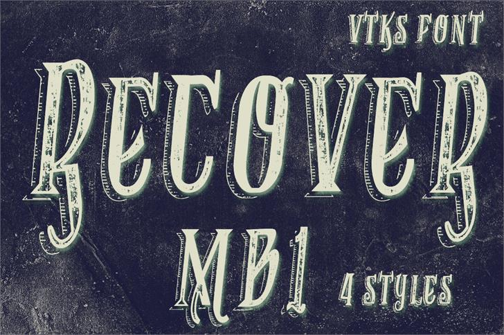 VTKS RECOVER MB 1 font by VTKS DESIGN