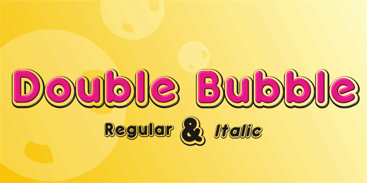 Double•Bubble Shadow font by studiotypo