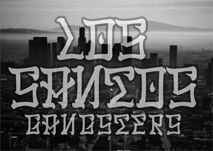 Los Santos font by Decade Type Foundry