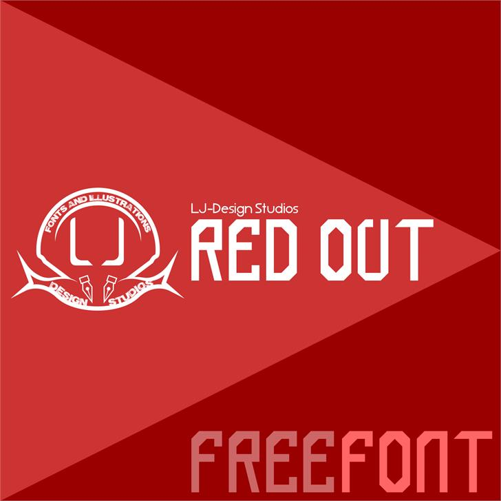 red out font by LJ Design Studios
