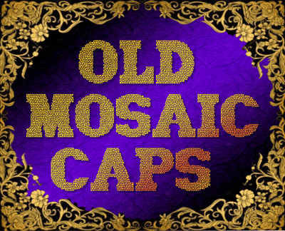 Old Mosaic CAPS font by Sughayer Foundry
