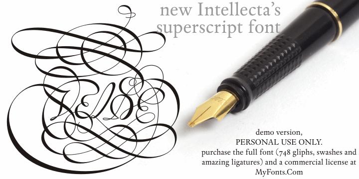 Van den Velde Script DEMO VERSI font by Intellecta Design