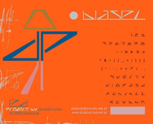 biasel font by Dominik Cymer