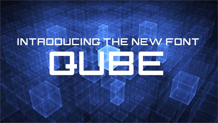 QUBE font by FontStudio LAB